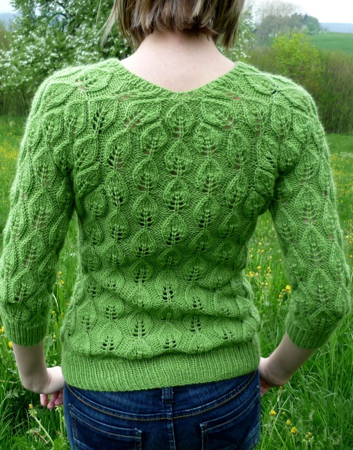 Pullover: Spring Leaves